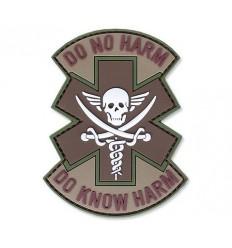 101 Inc. - Naszywka DO NO HARM - 3D PVC - Brązowy