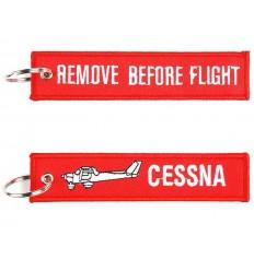 Brelok / Zawieszka do kluczy - REMOVE BEFORE FLIGHT - CESSNA - Czerwony