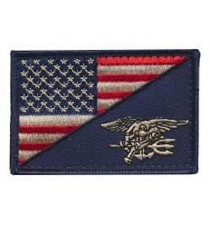 Mtac - Naszywka US Flag / NAVY SEALS - rzep