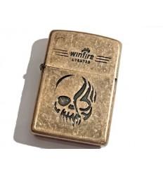 Winfire - Zapalniczka benzynowa / klasyczna - SKULL - Copper