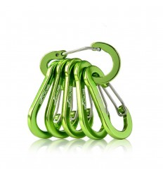 BOOMS - Karabinek aluminiowy - Multi-Use Carabiner Clip - Metaliczny zielony