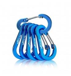 BOOMS - Karabinek aluminiowy - Multi-Use Carabiner Clip - Metaliczny Niebieski