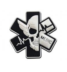 Naszywka MEDIC Skull - SWAT