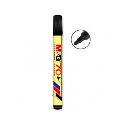 M&G - Marker permanentny Round Tip - Okrągły - Czarny - APM26171