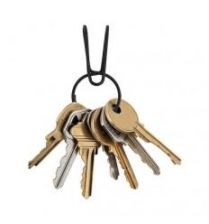 Nite Ize - Kółko na klucze z zaczepem SqueezeRing™ Easy Load Key Clip - Czarny - KSQR-01-R6