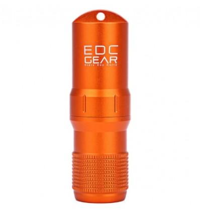EDC GEAR - Kapsuła wodoszczelna na zapałki / akcesoria EDC CAPSULE - Metalic Orange