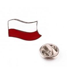 Wpinka / Odznaka - FLAGA - Biało Czerwony - PINS1741