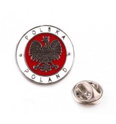 Wpinka / Odznaka - ORZEŁ POLSKA - Biało Czerwony - PINS1740