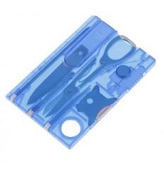 Karta wielofunkcyjna / Multitool - EDC CARD - Translucent Blue