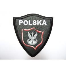 MALAMUT - naszywka POLSKA tarcza - Grafit