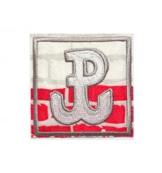 Mtac - Naszywka POLSKA WALCZĄCA - biało czerwony