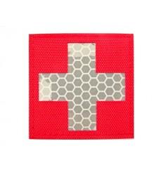MALAMUT - Naszywka MEDIC CROSS - Odblask - Czerwony