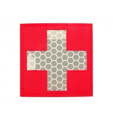 Mtac - Naszywka MEDIC CROSS - Odblask - Czerwony