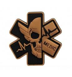 MALAMUT - Naszywka MEDIC Skull - Coyote Brown