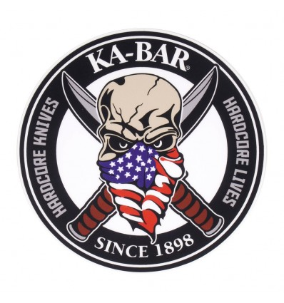 Ka-Bar - Naklejka SKULL Sticker