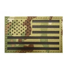 MALAMUT - Naszywka US Flag / USA Flaga - Laser Cordura - rzep - MultiCam