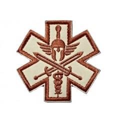 MALAMUT - Naszywka SPARTAN MEDIC - rzep - Desert
