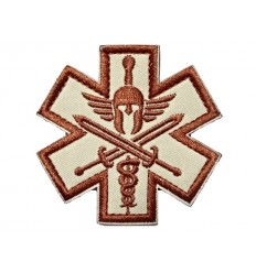 Mtac - Naszywka SPARTAN MEDIC - rzep - Desert