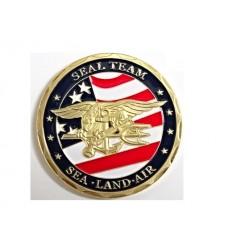 Medal okolicznościowy NAVY SEALS - SEAL TEAM - SEA-LAND-AIR - metal