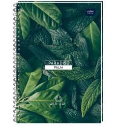 INTERDRUK - Notes / Kołonotatnik A6 - PARADISE PALM - 120 Kartek / kratka