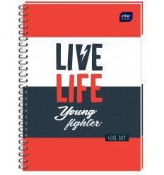 INTERDRUK - Notes / Kołonotatnik A6 - LIVE LIFE - 120 Kartek / kratka