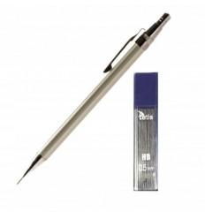 Tetis - Ołówek automatyczny / metalowy 0.5mm - HB - Gold metal - KV020-TA + 20 grafitów