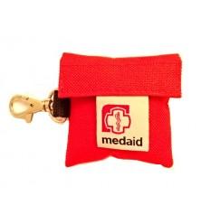 Medaid - Apteczka - Brelok Ratowniczy - Maseczka do resus. + rękawiczki - Czerwony