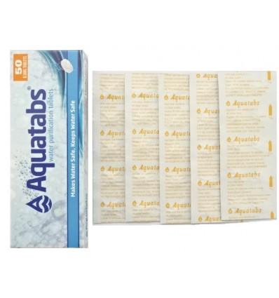 Medentech - Tabletki do odkażania / uzdatniania wody Aquatabs - 50 sztuk