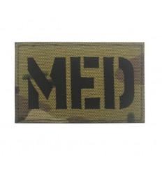Mtac - Naszywka MED / Medic - Laser Cordura - Rzep - MultiCam