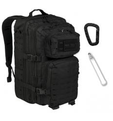 Mil-Tec - Plecak Large Assault Pack - Laser Cut - 36 Litrów - Czarny - 14002702