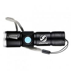 Shustar - Ładowalna latarka LED / 4xZOOM - 250 Lumenów - Q5-LED