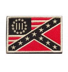 MALAMUT - Naszywka US Flag - Betsy Ross / Confederate Flag