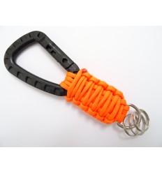 MALAMUT - Brelok survivalowy TacCobra - Karabinek / Paracord 2,3 m  USA - Orange