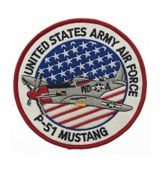 101 inc. - Naszywka P-51 MUSTANG - UNITED STATES ARMY AIR FORCE/ wersja LARGE