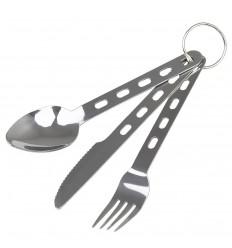 CAMO - Niezbędnik stalowy - Widelec Łyżka Nóż - ST5