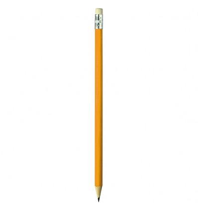 Ołówek z gumką - Axent DELTA - HB - Pomarańczowy