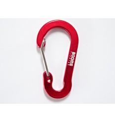 BOOMS - Karabinek aluminiowy - Multi-Use Carabiner Clip - Metaliczny Czerwony
