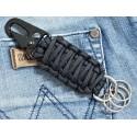 MALAMUT - Brelok surwiwalowy do kluczy SnapCOBRA - Stalowa klamra - Paracord 2,3m - Czarny