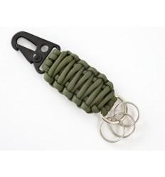 MALAMUT - Brelok surwiwalowy do kluczy SnapCOBRA - Paracord 2,3m - Olive