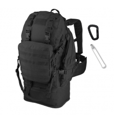 CAMO - Plecak OVERLOAD Backpack - 60Litrów - Czarny - PL-OV-BP-BL