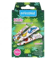 FirstAid - Plastry z opatrunkiem dla dzieci - wodoodporne - 30 sztuk - różne rozmiary