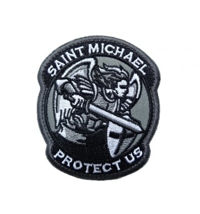 MALAMUT - Naszywka SAINT MICHAEL PROTECT US - SHADOW