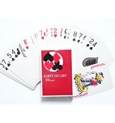 Penword - Karty do gry - Talia 54 kart - Czerwony