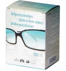 Borval - Chusteczki do czyszczenia okularów / optyki - Optical lens wipes - 50 sztuk