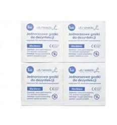 Ultramedic - Gaziki / Zestaw 4 sztuk do dezynfekcji - Nasączone 70 % - 65x30mm