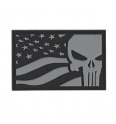 101 Inc. - Naszywka PUNISHER USA Flag - Grey