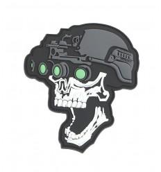 101 Inc. - Naszywka Night vision skull white - 3D PVC