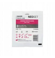 NEOSET - Kompresy z gazy - jałowe - 3 sztuki/ blister - 5x5cm