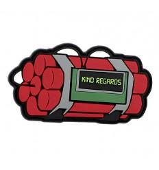 101 Inc. - Naszywka KIND REGARDS - 3D PVC - Czerwony
