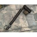 Cetacea Tactical - Smycz QR-Molle™ Mini Coil Tether - Czarny